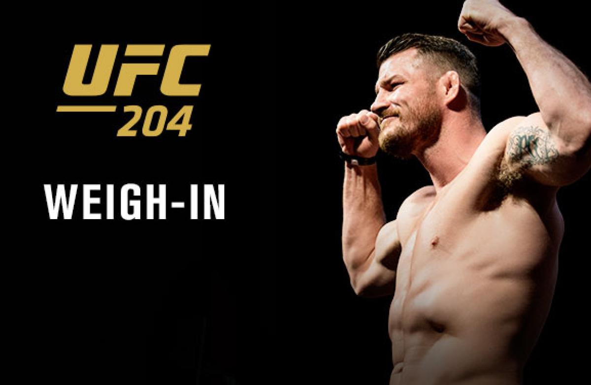 UFC 204: Bisping vs Henderson weigh-in results