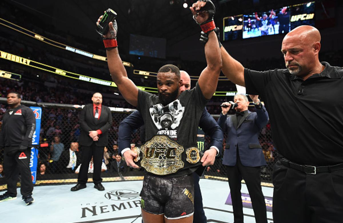 Woodley cements welterweight legacy in Dallas