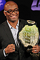 UFC Middleweight Champion Anderson Silva poses for pictures