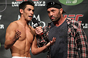 (L-R) Dominick Cruz and Joe Rogan