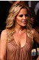 Jenny McCarthy takes in the fights at UFC 132.