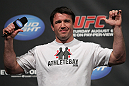 Chael Sonnen interacts with the fans at the UFC Fight Club Q&A before the UFC 133 Weigh-in.