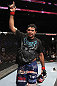 UFC133: Rafael Natal celebrates his win over Paul Bradley.