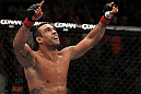UFC 133: Vitor Belfort celebrates his win.