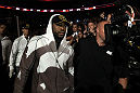 UFC 133: Rashad Evans enters the arena.