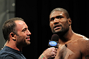 (L-R) Joe Rogan with Rampage Jackson