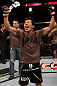 Takeya Mizugaki celebrates his win
