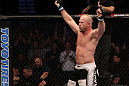 Tim Boetsch celebrates his win