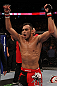 Tony Ferguson celebrates his win