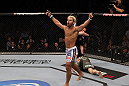 Josh Koscheck celebrates his win