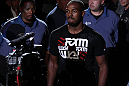 Jon Jones enters the arena