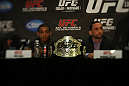 Title holders Jose Aldo and Frankie Edgar