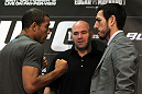 Jose Aldo and Kenny Florian face off