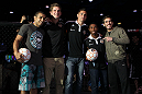 UFC Featherweight Champion Jose Aldo, Houston Dynamo defender Bobby Boswell, Houston Dynamo midfielder Geoff Cameron, Houston Dynamo defender Corey Ashe, and UFC Featherweight title challenger Kenny Florian