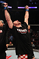Stipe Miocic celebrates his win over Joey Beltran
