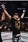 Joe Lauzon celebrates his win