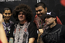 "TapouT founders Tim ""Skyskrape"" Katz and Dan ""Punkass"" Caldwell poses for photos with fans"