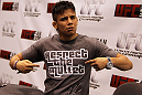 Former WEC Bantamweight Champion Miguel Angel Torres poses for a photo