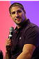 UFC fighter Brendan Schaub attends a Q&A session with former cast members of The Ultimate Fighter on the main stage at the UFC Fan Expo