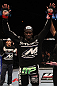 Cheick Kongo celebrates his win
