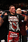 Nick Diaz celebrates his win