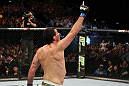 Anthony Perosh celebrates his win