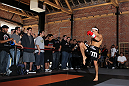 SAN JOSE, CA - NOVEMBER 16:  Urijah Faber works out for the fans and media during the UFC 139 open workouts at the Heroes Martial Arts Gym on November 16, 2011 in San Jose, California.  (Photo by Josh Hedges/Zuffa LLC/Zuffa LLC via Getty Images)