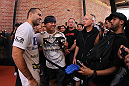 SAN JOSE, CA - NOVEMBER 16:  Mauricio &quot;Shogun&quot; Rua greets fans after working out during the UFC 139 open workouts at the Heroes Martial Arts Gym on November 16, 2011 in San Jose, California.  (Photo by Josh Hedges/Zuffa LLC/Zuffa LLC via Getty Images)