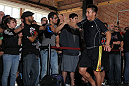SAN JOSE, CA - NOVEMBER 16:  Cung Le greets fans after working out during the UFC 139 open workouts at the Heroes Martial Arts Gym on November 16, 2011 in San Jose, California.  (Photo by Josh Hedges/Zuffa LLC/Zuffa LLC via Getty Images)