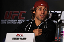 SAN FRANCISCO, CA - NOVEMBER 17:  Urijah Faber attends the UFC 139 pre-fight press conference at the Fort Mason Center on November 17, 2011 in San Francisco, California.  (Photo by Josh Hedges/Zuffa LLC/Zuffa LLC via Getty Images)