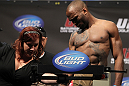 SAN JOSE, CA - NOVEMBER 18:  Shamar Bailey weighs in during the UFC 139 Weigh In at the HP Pavilion on November 18, 2011 in San Jose, California.  (Photo by Josh Hedges/Zuffa LLC/Zuffa LLC via Getty Images)