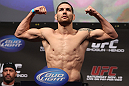 SAN JOSE, CA - NOVEMBER 18:  Chris Weidman weighs in during the UFC 139 Weigh In at the HP Pavilion on November 18, 2011 in San Jose, California.  (Photo by Josh Hedges/Zuffa LLC/Zuffa LLC via Getty Images)