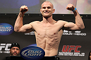 SAN JOSE, CA - NOVEMBER 18:  Martin Kampmann weighs in during the UFC 139 Weigh In at the HP Pavilion on November 18, 2011 in San Jose, California.  (Photo by Josh Hedges/Zuffa LLC/Zuffa LLC via Getty Images)