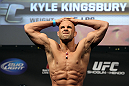 SAN JOSE, CA - NOVEMBER 18:  Kyle Kingsbury weighs in during the UFC 139 Weigh In at the HP Pavilion on November 18, 2011 in San Jose, California.  (Photo by Josh Hedges/Zuffa LLC/Zuffa LLC via Getty Images)