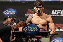 SAN JOSE, CA - NOVEMBER 18:  Brian Bowles weighs in during the UFC 139 Weigh In at the HP Pavilion on November 18, 2011 in San Jose, California.  (Photo by Josh Hedges/Zuffa LLC/Zuffa LLC via Getty Images)