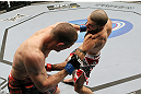 SAN JOSE, CA - NOVEMBER 19: Matt Brown punches Seth Baczynski during UFC Welterweight bout at the HP Pavilion in San Jose, California on November 19, 2011 in San Jose, California. (Photo by Josh Hedges/Zuffa LLC/Zuffa LLC via Getty Images)
