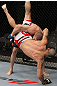 SAN JOSE, CA - NOVEMBER 19: Seth Baczynski slams Matt Brown to the mat during UFC Welterweight bout at the HP Pavillion in San Jose, California on November 19, 2011 in San Jose, California.  (Photo by Josh Hedges/Zuffa LLC/Zuffa LLC via Getty Images)