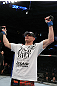 SAN JOSE, CA - NOVEMBER 19: Seth Baczynski celebrates defeating Matt Brown in a UFC Welterweight bout at the HP Pavillion in San Jose, California on November 19, 2011 in San Jose, California.  (Photo by Josh Hedges/Zuffa LLC/Zuffa LLC via Getty Images)