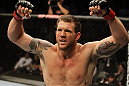SAN JOSE, CA - NOVEMBER 19: Ryan Bader celebrates defeating Jason Brilz with a knock out in the first round during an UFC Light Heavywieght bout at the HP Pavillion on November 19, 2011 in San Jose, California.  (Photo by Josh Hedges/Zuffa LLC/Zuffa LLC via Getty Images)