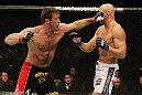 SAN JOSE, CA - NOVEMBER 19: (L-R) Stephan Bonnar punches Kyle Kingsbury during an UFC Light Heavywieght bout at the HP Pavillion on November 19, 2011 in San Jose, California.  (Photo by Josh Hedges/Zuffa LLC/Zuffa LLC via Getty Images)