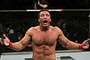 SAN JOSE, CA - NOVEMBER 19: Stephan Bonnar celebrates defeating Kyle Kingsbury during an UFC Light Heavywieght bout at the HP Pavillion on November 19, 2011 in San Jose, California.  (Photo by Josh Hedges/Zuffa LLC/Zuffa LLC via Getty Images)