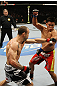 SAN JOSE, CA - NOVEMBER 19: (L-R) Wanderlei Silva throws a punch that misses Cung Le during an UFC Middleweight bout at the HP Pavillion on November 19, 2011 in San Jose, California.  (Photo by Josh Hedges/Zuffa LLC/Zuffa LLC via Getty Images)