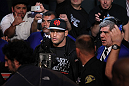 SAN JOSE, CA - NOVEMBER 19: Dan Henderson walks towards the Octagon ring for his UFC Light Heavyweight bout with Mauricio Rua at the HP Pavillion on November 19, 2011 in San Jose, California.  (Photo by Josh Hedges/Zuffa LLC/Zuffa LLC via Getty Images)
