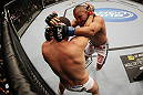 SAN JOSE, CA - NOVEMBER 19: (L-R) Mauricio Rua and Dan Henderson wrap each other up during an UFC Light Heavyweight bout at the HP Pavillion on November 19, 2011 in San Jose, California.  (Photo by Josh Hedges/Zuffa LLC/Zuffa LLC via Getty Images)