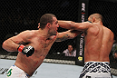 SAN JOSE, CA - NOVEMBER 19: (L-R) Mauricio Rua punches Dan Henderson during an UFC Light Heavyweight bout at the HP Pavillion on November 19, 2011 in San Jose, California.  (Photo by Josh Hedges/Zuffa LLC/Zuffa LLC via Getty Images)