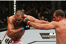 SAN JOSE, CA - NOVEMBER 19:  (R-L) Mauricio Rua punches Dan Henderson during an UFC Light Heavyweight bout at the HP Pavillion on November 19, 2011 in San Jose, California.  (Photo by Josh Hedges/Zuffa LLC/Zuffa LLC via Getty Images)