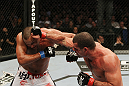 SAN JOSE, CA - NOVEMBER 19:  (R-L)Mauricio Rua punches Dan Henderson during an UFC Light Heavyweight bout at the HP Pavillion on November 19, 2011 in San Jose, California.  (Photo by Josh Hedges/Zuffa LLC/Zuffa LLC via Getty Images)