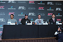 (L-R) Benson Henderson, Ryan Bader, Jake Shields and Yushin Okami