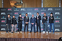 Takeya Mizugaki, Kid Yamamoto, Takanori Gomi, Yoshihiro Akiyama, UFC CEO Lorenzo Fertitta, Yushin Okami, Riki Fukuda &amp; Hatsu Hioki