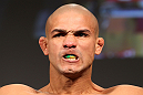 LAS VEGAS, NV - DECEMBER 02:  Diego Brandao weighs in at the official weigh-in for The Ultimate Fighter 14 Finale at The Palms Casino Resort on December 2, 2011 in Las Vegas, Nevada.  (Photo by Josh Hedges/Zuffa LLC/Zuffa LLC via Getty Images)